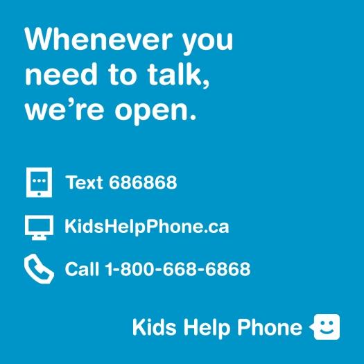 Kids Help Phone Graphic