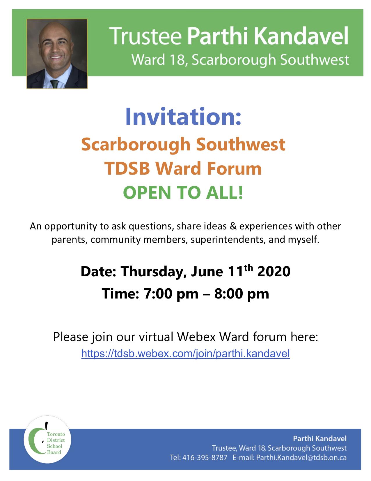 Ward Forum June 2020