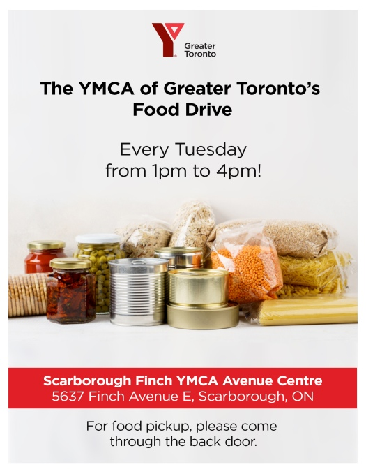YMCA FOOD DRIVE Flyer