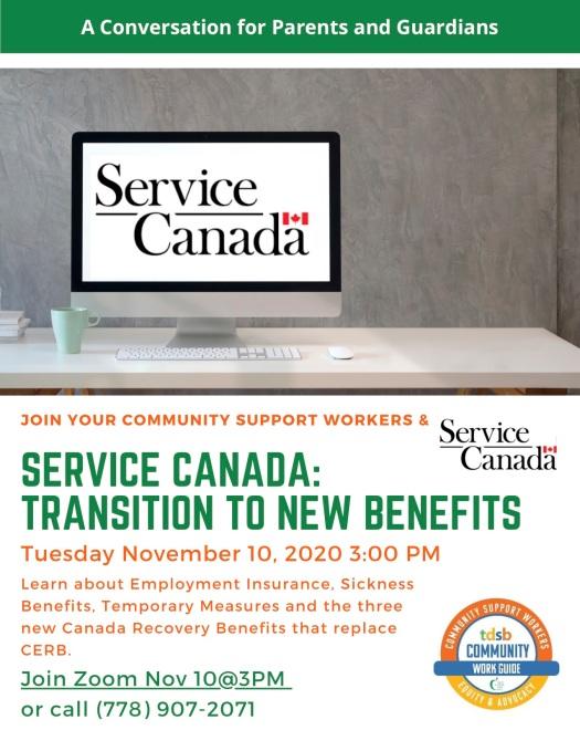 Service Canada flyer