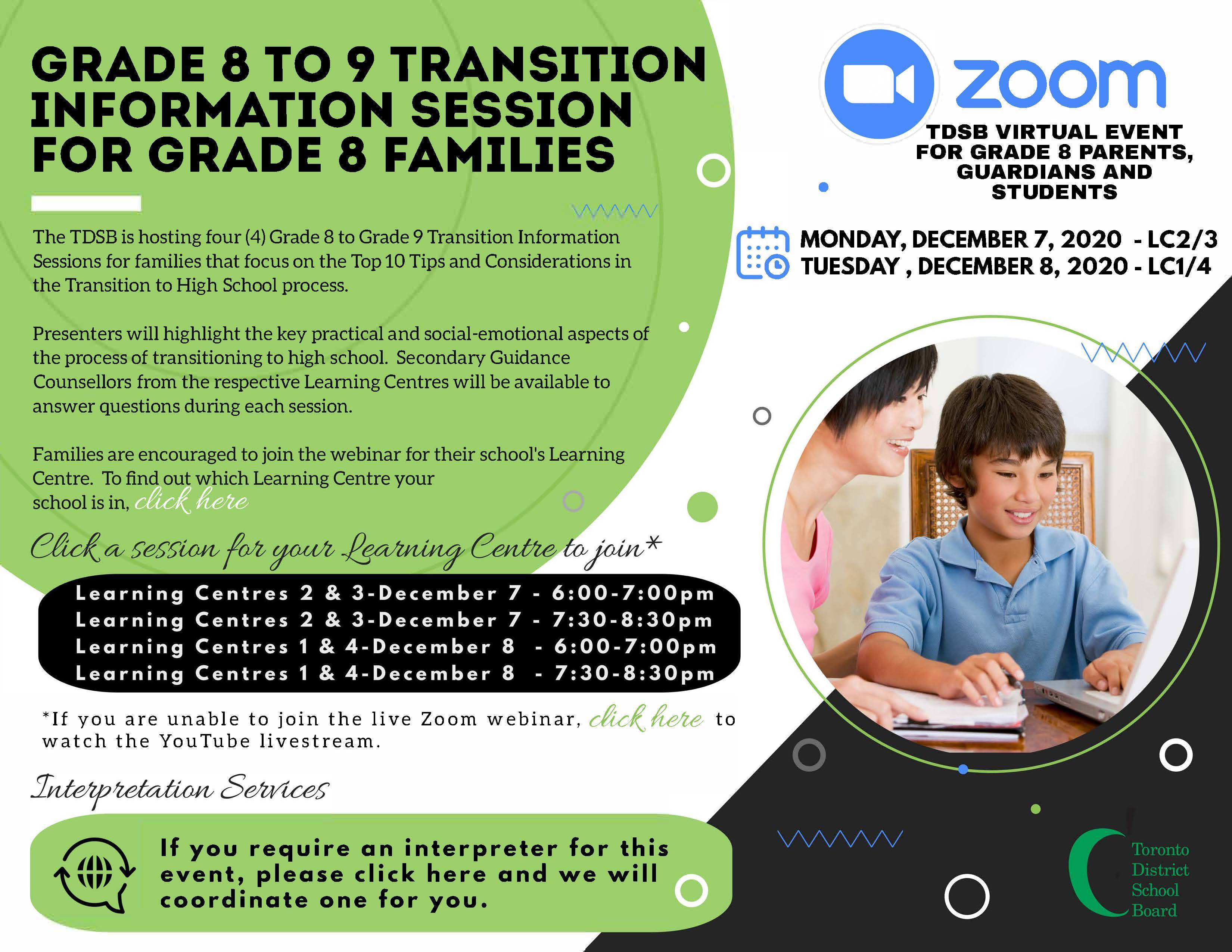 TDSB Grade 8 To Grade 9 Transition Information Session For Grade 8 Families